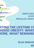 PRESENTATION: Estimating the lifetime cost of obesity: What have we done, what remains to be done?